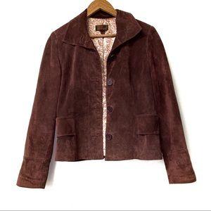 Danier Leather Suede Genuine Jacket/Coat Brown